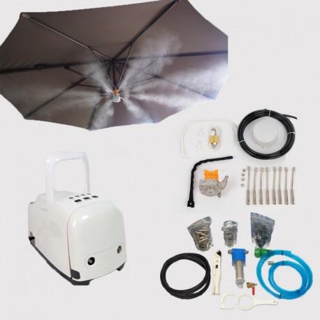 Lot Système de brumisation haute pression 12 buses + Kit parasol 8 buses avec lampe pour brumisateur haute pression
