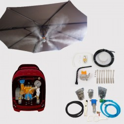 Lot Système de brumisation haute pression 12 buses + Kit parasol 8 buses avec lampe pour brumiseur haute pression