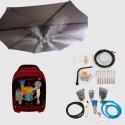 Lot Système de brumisation haute pression 12 buses + Kit parasol 8 buses pour brumisateur haute pression